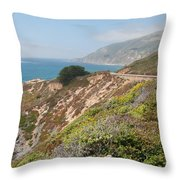 Along Big Sur Throw Pillow