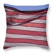 An American Flag At Sunrise Throw Pillow