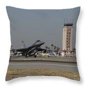 An F-16 Fighting Falcon Takes Throw Pillow