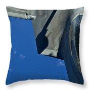 An F-22 Raptor In Flight Throw Pillow