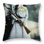Annie Oakley (1860-1926) Throw Pillow