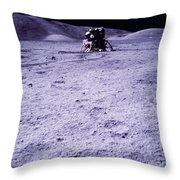 Apollo Mission 17 Throw Pillow