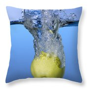 Apple Dropped In Water Throw Pillow