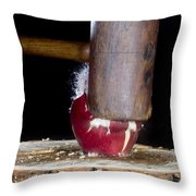 Apple Smashed With Mallet Throw Pillow