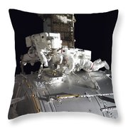 Astronauts Participate Throw Pillow