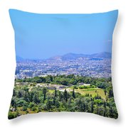 Athens Greece Throw Pillow