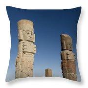 Atlantes Warrior Statues Throw Pillow