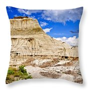 Badlands In Alberta Throw Pillow