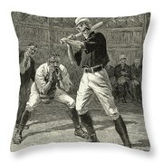 Baseball, 1888 Throw Pillow
