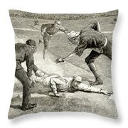 Baseball Game, 1885 Throw Pillow