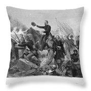 Battle Of Spotsylvania Throw Pillow
