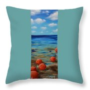 Beach Buoys Throw Pillow