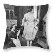 Bedroom Scene, 1920s Throw Pillow