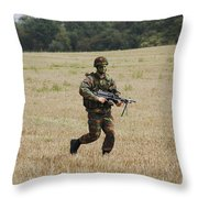 Belgian Paratroopers Proceeding Throw Pillow