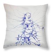 Birth Throw Pillow by Gloria Ssali