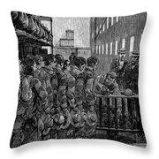 Blackwells Island, 1876 Throw Pillow by Granger