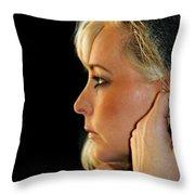 Blond Woman Throw Pillow