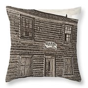Boat Builders Cottage Throw Pillow