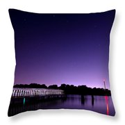 Boblo Dock Throw Pillow