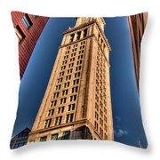 Boston Custom House Throw Pillow