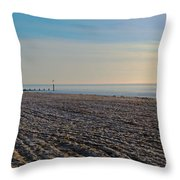 Bournemouth Beach Throw Pillow