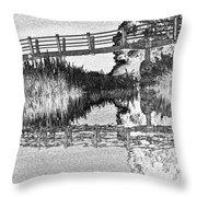 Bridge Across The River Throw Pillow