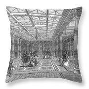 Brighton Aquarium, 1872 Throw Pillow