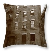Brooklyn New York - 126 Front Street Throw Pillow
