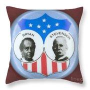 Bryan Campaign Button Throw Pillow