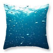 Bubbles Underwater Throw Pillow