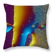 Buckyball Crystal Throw Pillow