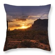 By Dawn's Early Light Throw Pillow