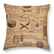 Catalog Page, C1900 Throw Pillow