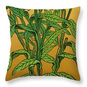 Centaurea Montana, Bachelors Button Throw Pillow