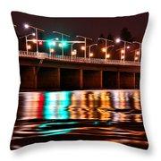 Champlain Bridge Throw Pillow