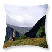 Chapel Of Saint Kevin At Glendalough Throw Pillow