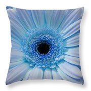 Cheeriest Blue Throw Pillow