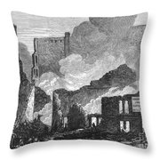 Chicago: Fire, 1871 Throw Pillow