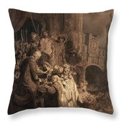 Christ Before Pilate Throw Pillow