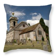 Church Of St. Lawrence West Wycombe  Throw Pillow