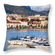City Of Split In Croatia Throw Pillow