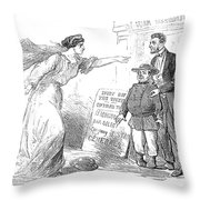 Civil War Cartoon Throw Pillow