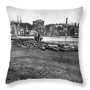 Civil War: Richmond, 1865 Throw Pillow