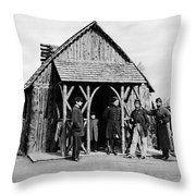 Civil War: Union Officers Throw Pillow