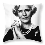 Clare Boothe Luce (1903-1987) Throw Pillow