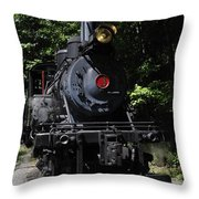 Climax Geared Locomotive Throw Pillow