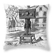 Colonial Pillory - To License For Professional Use Visit Granger.com Throw Pillow