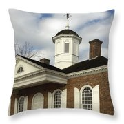 Colonial Williamsburg Courthouse Throw Pillow