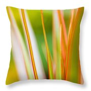 Colorful Tropical Plants Throw Pillow