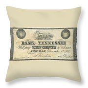 Confederate Currency Throw Pillow